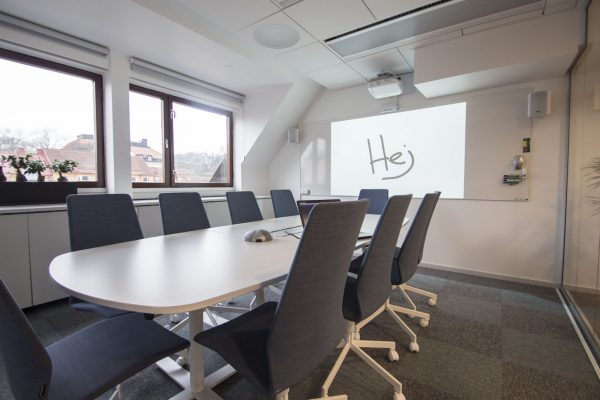 Interactive Projector and DesignLine Writing Board without frame in meeting room